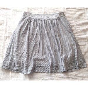 Gap Skirt Cotton Stretch Waist A Line Pin Stripe